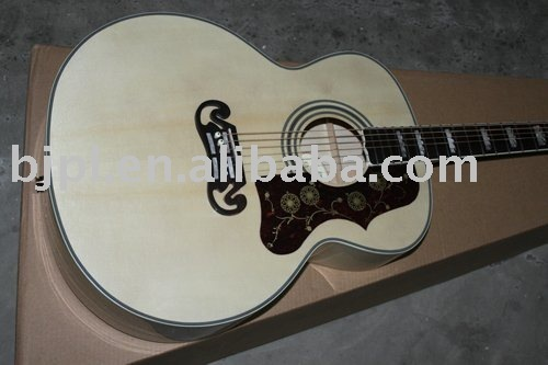 best selling Acoustic Guitar NEW SJ200 Style Standard Veneer Acoustic Guitar 6 Strings Custom OEM Musical Instruments