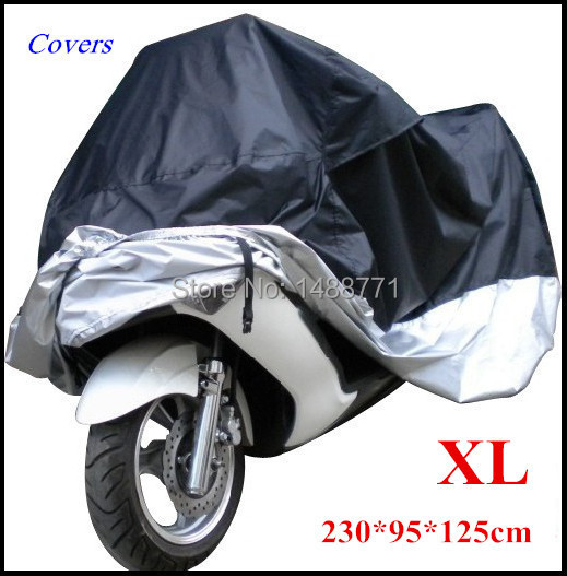 Big Size Motorcycle Cover Xl Waterproof Outdoor Uv Protector Bike Rain Dustproof, Covers for Motorcycle, Motor Cover Scooter G(China (Mainland))
