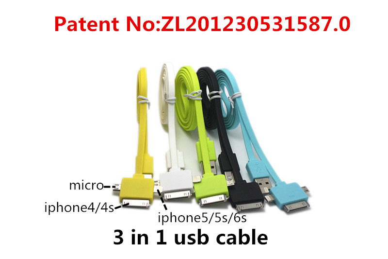 3 in 1 usb cable both charging and data sync applicable to mp3 player lg g2 g3 mikro usb enokia 6300 fone de ouvido usb female(China (Mainland))