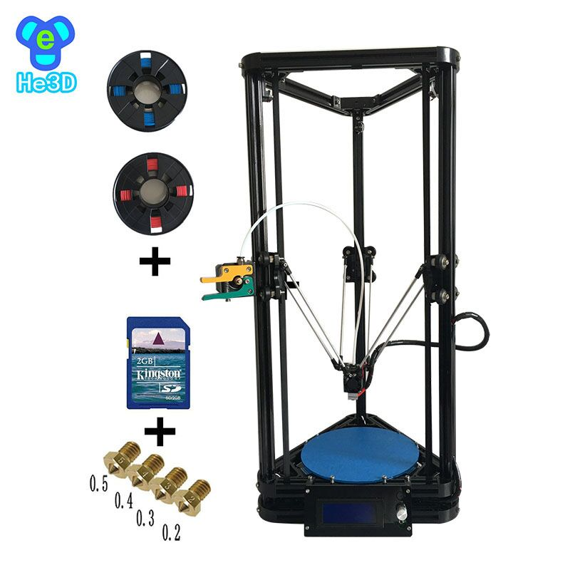 the newest design HE3D K200 delta 3d printer kit- support multi material(China (Mainland))