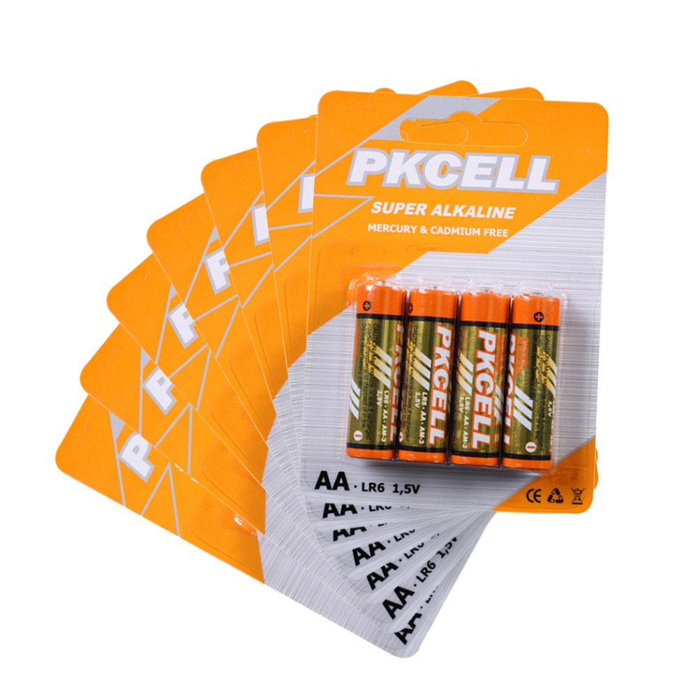 28Pcs/7card PKCELL LR6 1.5Volt AA Batteries Non-Rechargeable Battery Single Use AAA Battery  <br><br>Aliexpress