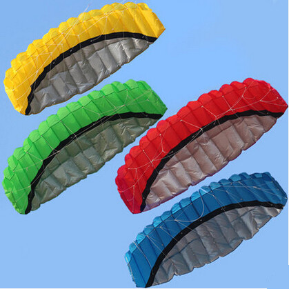 Free Shipping Outdoor Sports Hot Sale 2.5 m Dual Line Stunt Parafoil Nylon Power Kite + Flying Tool(China (Mainland))