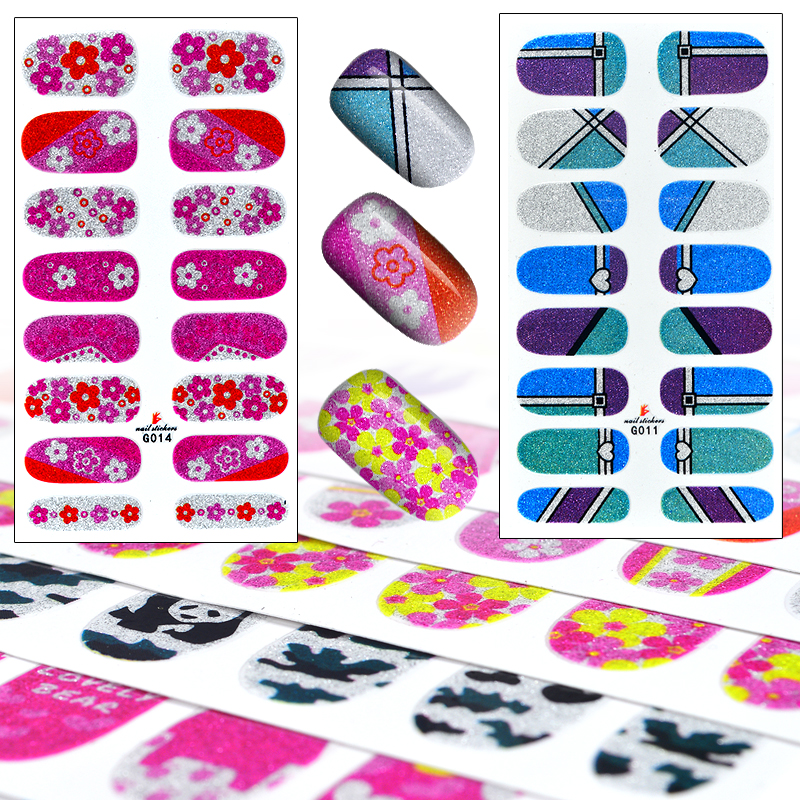 10 Sets High Quality Foils Decals French Manicure Beauty Makeup Tools Cartoon 3D Nail Art Sticker Patch(China (Mainland))