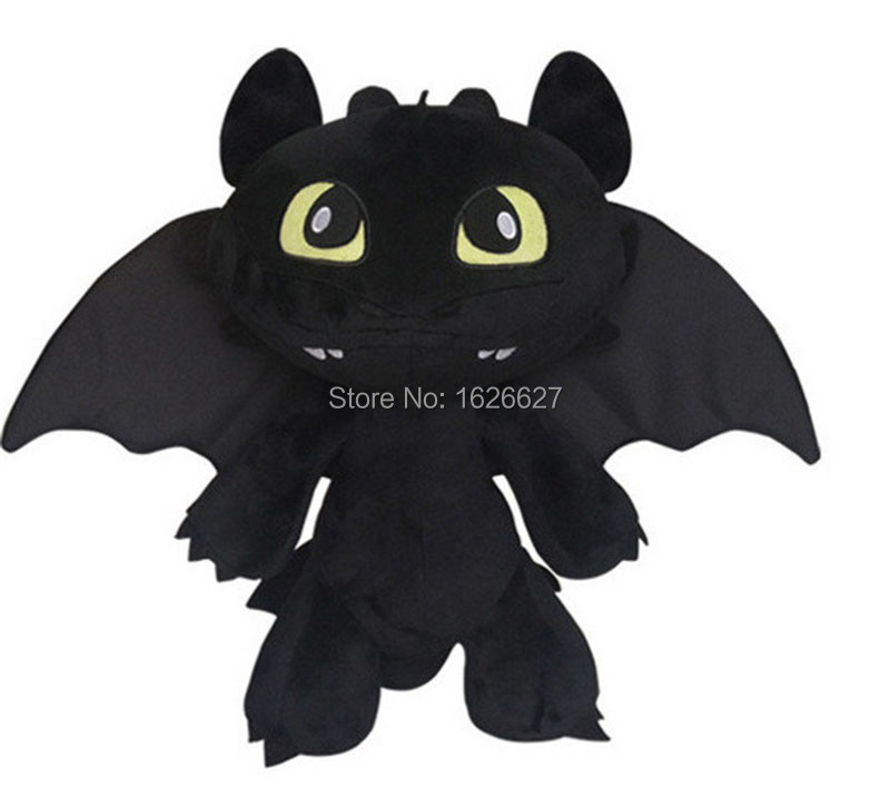 How To Train Your Dragon 2 Plush Toy Toothless Dragon Stuffed Animal Movie Dolls Color Black(China (Mainland))