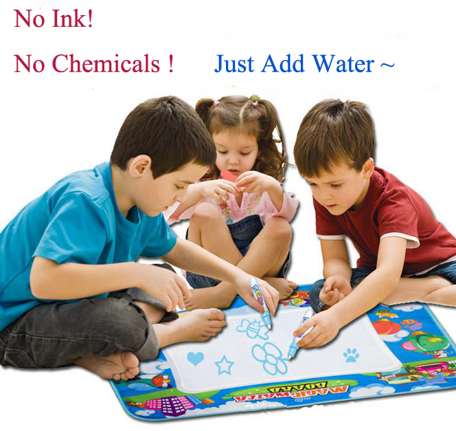 60X48CM Four Colour Aqua Doodle Mat Magic Water Write Drawing Painting Canvas Game Blanket Arts Toy(China (Mainland))