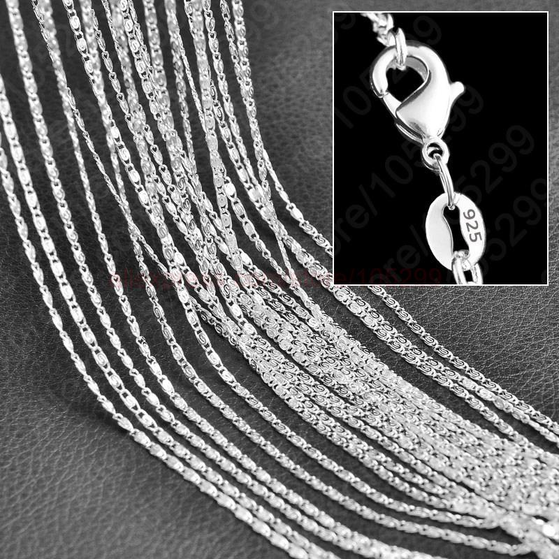 Гаджет  Wholesale 10PCS 16,18,20,22,24,26,28,30 Inches S Chains 925 Sterling Silver Fine Jewelry Necklace Chains+Lobster Clasps None Ювелирные изделия и часы