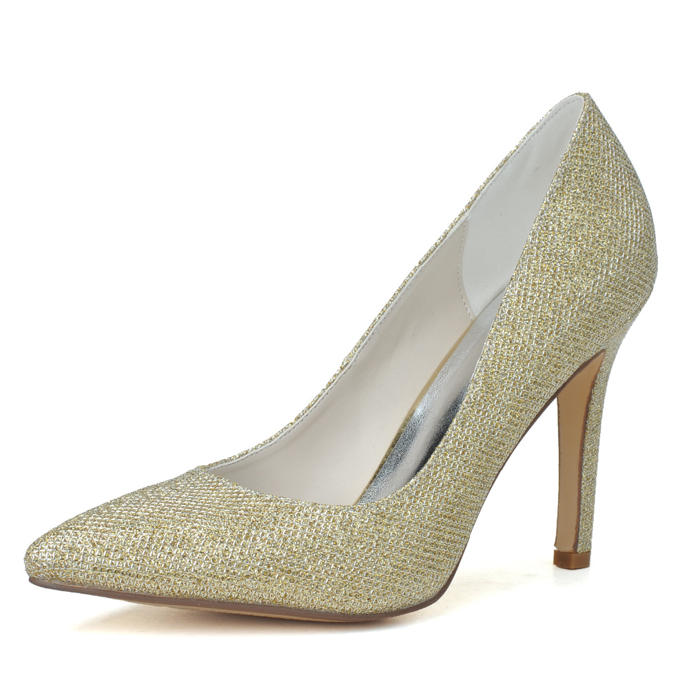 silver glitter shoes low heel is heel