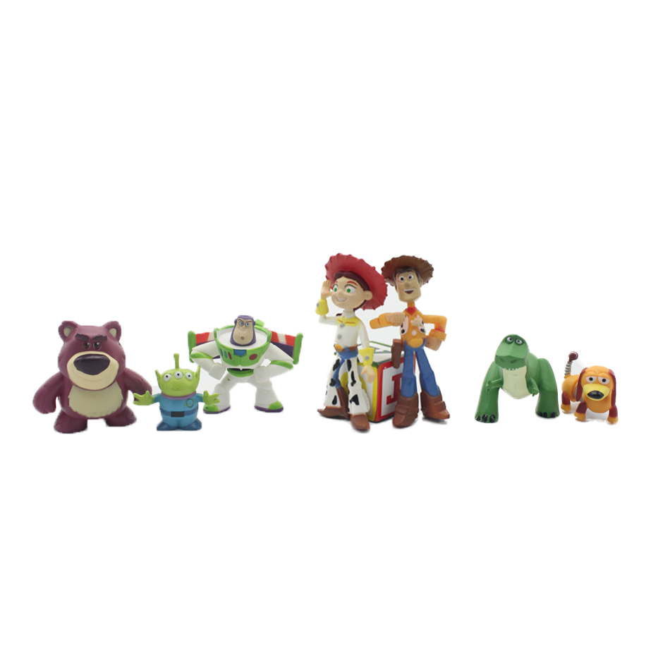 hot ! NEW 8pcs/set 5-12cm Toy Story 3 Buzz Lighter Woody Jessie action Figures PVC Action Figure Model toys Christmas gift toy(China (Mainland))
