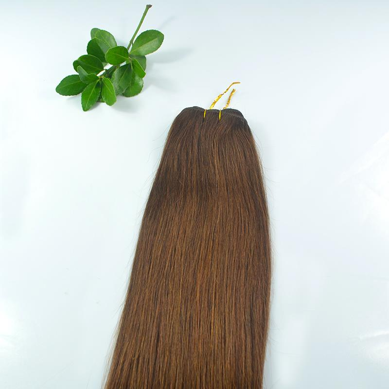 #2 Dark Brown 2022 30/100g weight Remy Weft Hair Extensions More Colors 100% Remy Human Weft Hair without clip High Quality<br><br>Aliexpress