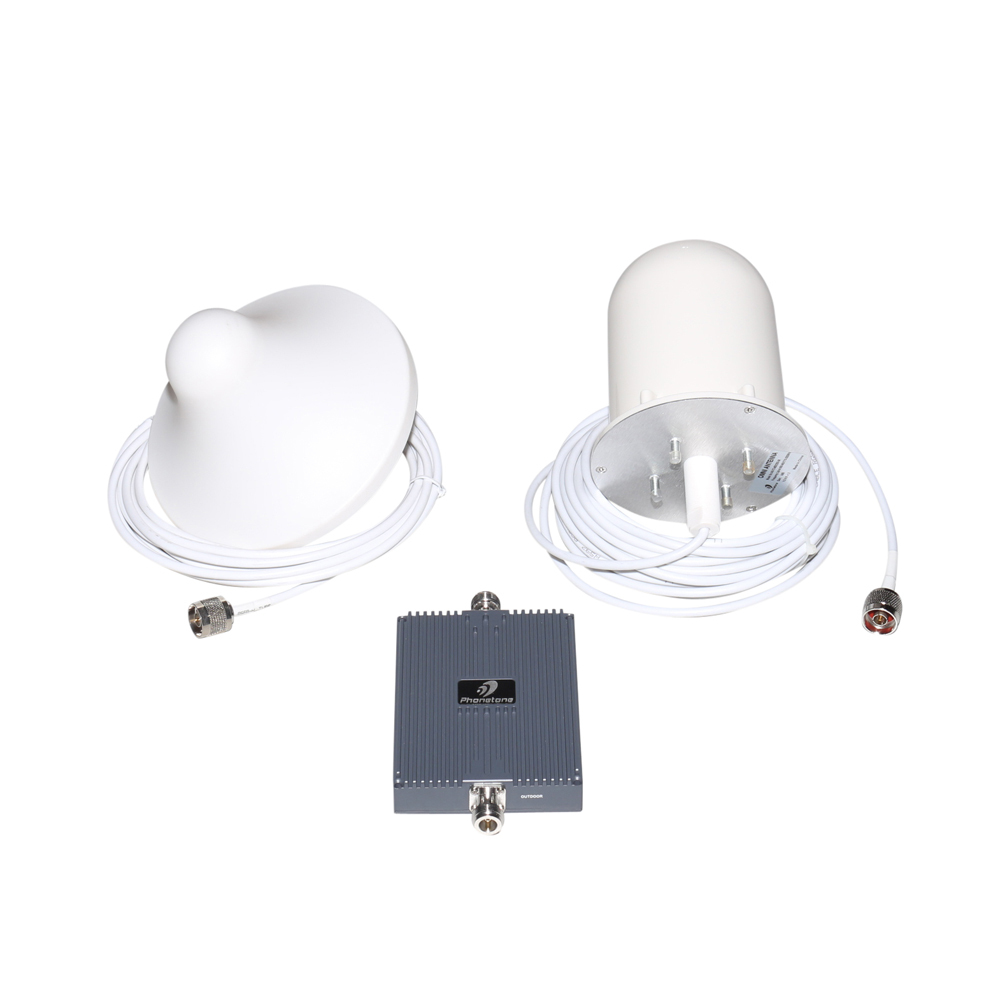 75dB 900MHz GSM 3G Celular Signal Repeater Booster Amplifier ALC + Omni-directional Outside Antenna and Inside Antenna(China (Mainland))