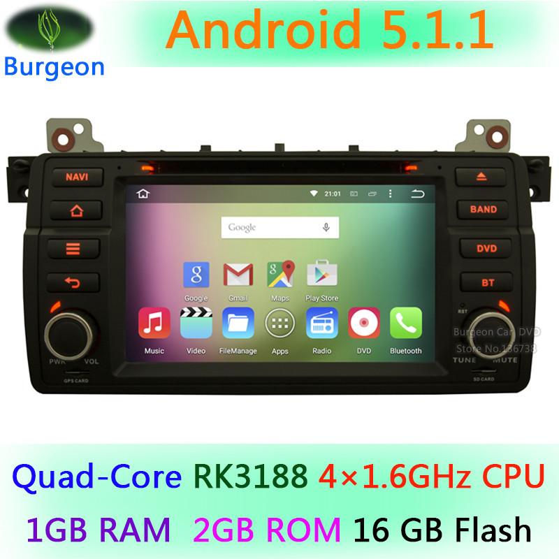 Car DVD Player For 3 Series E46 M3 318i 320i 325i 328i Rover 75 MG ZT Android 5.1.1 Quad Core 4X1.6GHz CPU Radio Stereo GPS Navi(China (Mainland))
