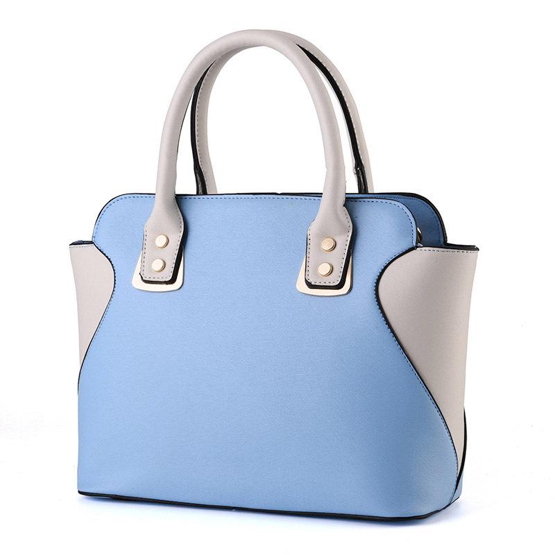New Arrival Fashion  Vintage Black And White Patchwork Bag  Trapeze Bag Women PU  Leather Handbag <br><br>Aliexpress