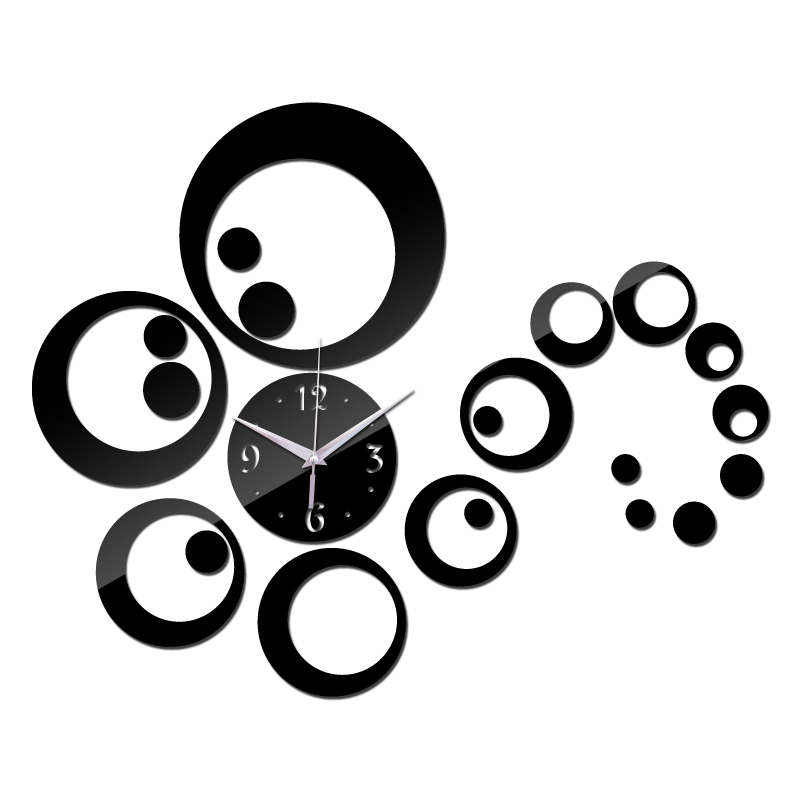 2015 big Acrylic wall clock modern design Multi-piece set home decor watch Living Room limited time-limited free shipping(China (Mainland))