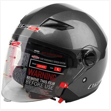Professional Urban Open Face Motorcycle Helmet, with Controable Internal Black Sunglass,DOT, ECE Approved LS2 OF 569 ,capacete