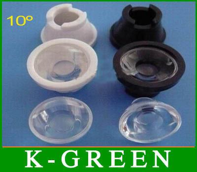 100X high power led lens 5~80 degree 1w 3w LED lamp optics led lens with holder free shipping(China (Mainland))