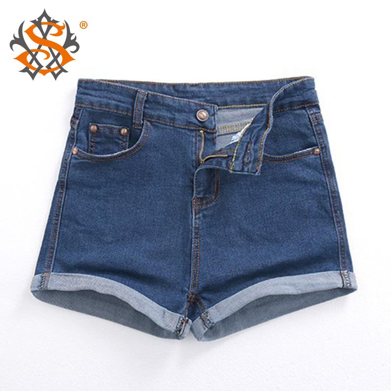New Fashion women's jeans Summer High Waist Stretch Denim Shorts Slim Korean Casual women Jeans Shorts Hot Plus Size(China (Mainland))