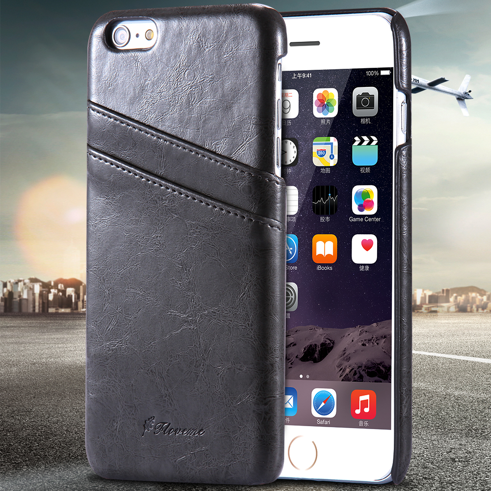 Floveme Brand i5 5S Card Slot Leather Case for iphone 5 5s Super Ultra Slim Back Cover Retro cell phone shell cable Accessories(China (Mainland))
