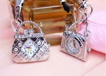 women's handbags Watch diamond pattern Ladies Girls Cross Body Shoulder Bag Luxury pocket watch with keychain or chain(China (Mainland))