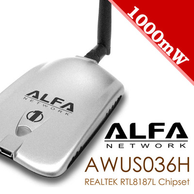 ALFA NETWORK AWUS036H 1W 1000mW Wireless G USB Adapter v5 REALTEK RTL8187L + Mount(China (Mainland))