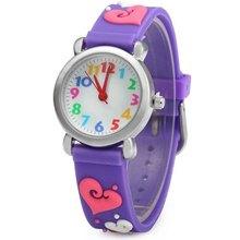 free drop shipping hot sales fashion gifts girls heart shape watch silicone waterproof wristwatch - junda watches store