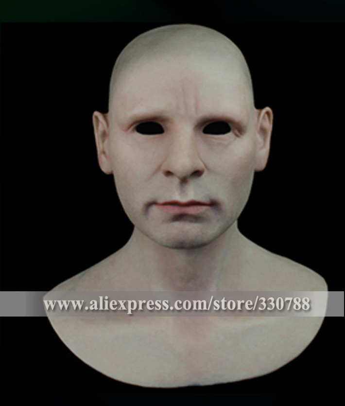 [ SF-N5] mens masquerade masks, human masks silicone realistic, full face party helloween - Guangzhou Angel Company store