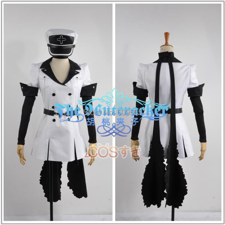 Free Shipping! Akame ga Kill Esdeath Cosplay Costume Custom Made Any Size Dresses, hats, belts, gloves, scarves(China (Mainland))
