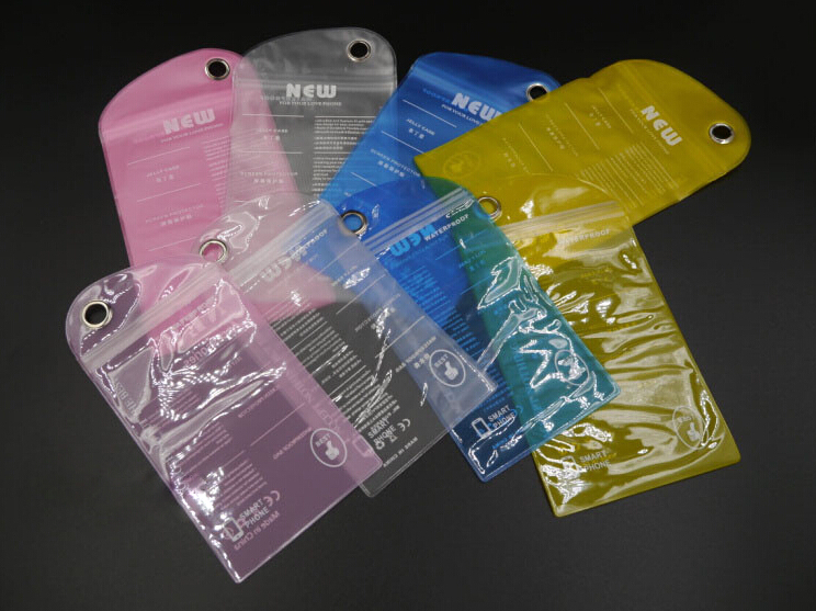 Wholesale 6Pcs/lot Waterproof Bag Case Cover Swimming Beach Pouch For iPhone Mobile Cell Phone Phone Shell Dust Retail Bags(China (Mainland))