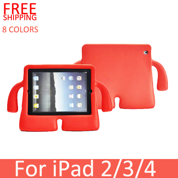 Colorful Children Kids Safe Soft Silicon Case for ipad 2 3 4, Kids Shockproof Rugged Protector lovely Case Cover For iPad 2 3 4(China (Mainland))