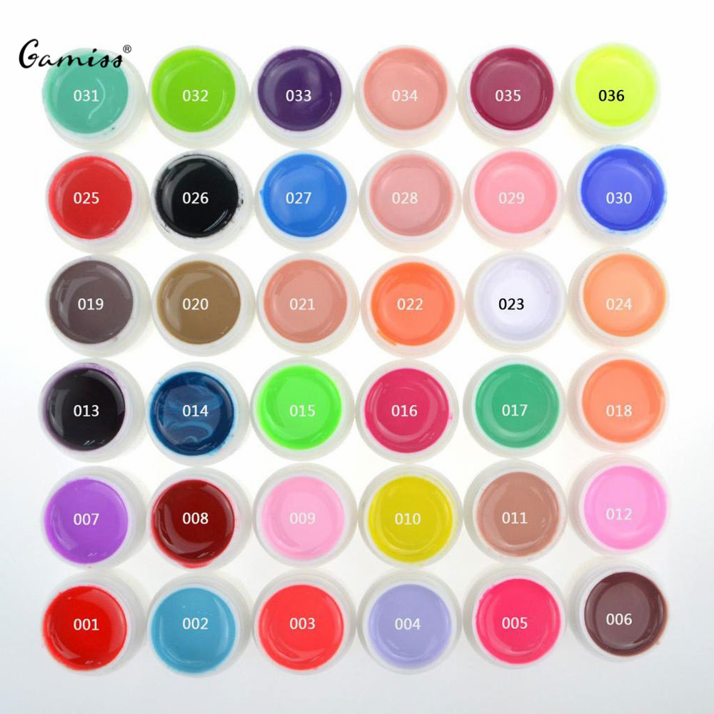 Top Quality Nail Gel 36 Pure Colors Pots Bling Cover UV Gel Nail Art Tips Extension Manicure for Girls Nail Polish Finger Ink<br><br>Aliexpress