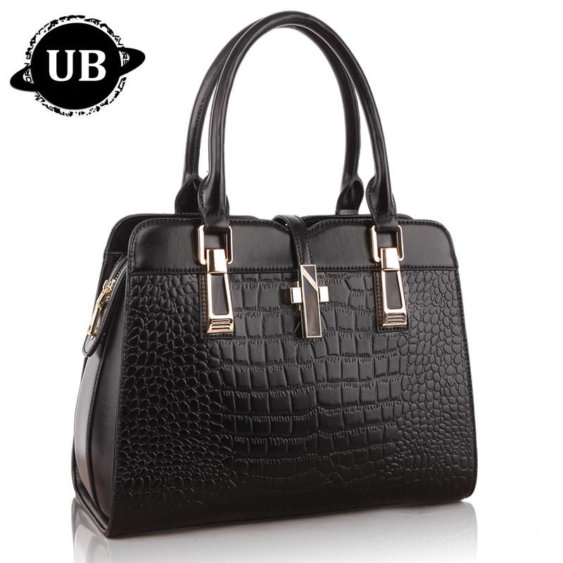 Famous Luxury Brand Fashion Women Genuine Leather Bag Women Alligator Pattern Handbag Messenger Bag Tote Shoulder Bag F328