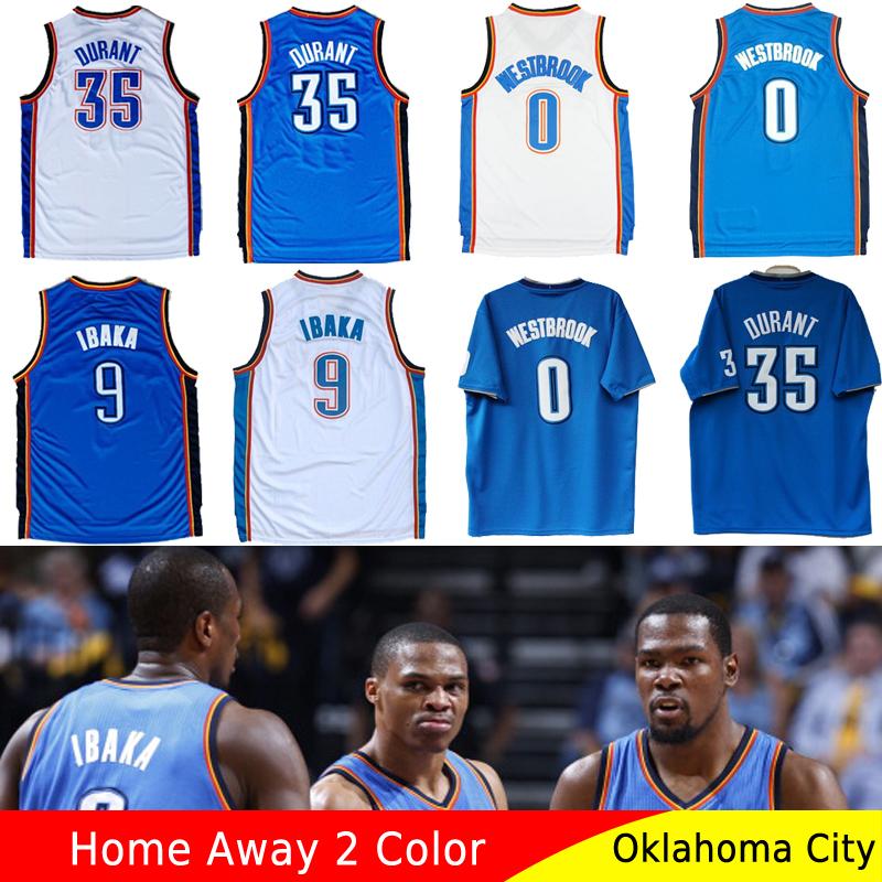 Гаджет  Free Shipping Wholesale Oklahoma City Kevin Durant #35 Russell Westbrook #0 Serge Ibaka 9# Cheap Basketball Jerseys Throwback None Спорт и развлечения