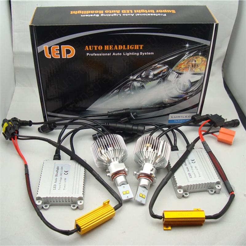 Runstreet(TM) H4 Hi/Lo 6000K Super Bright 9000lm Car LED Headlight Fog Light Conversion Kit Lumileds LMZ LED K.O. Xenon HID Kit