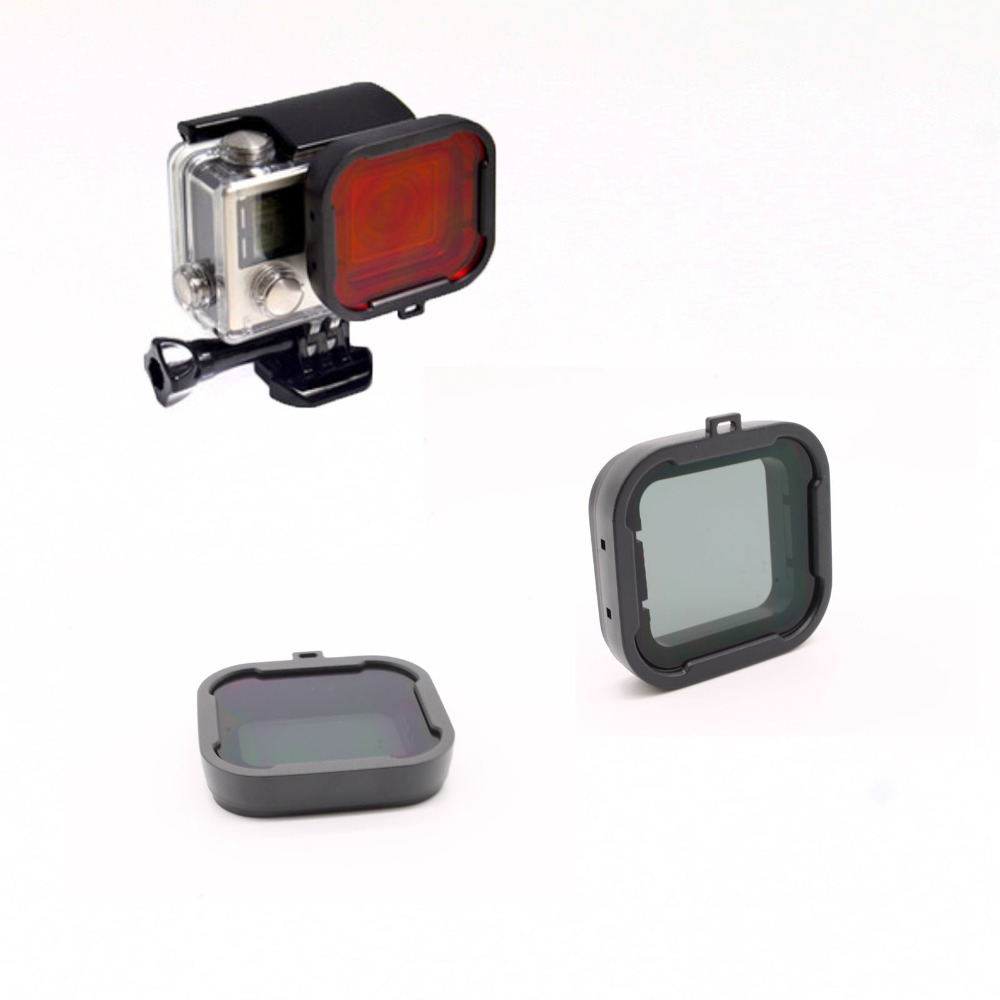 Gopro Accessories Dive Filter grey Underwater Diving Lens Filtro for GoPro Hero 3+ 4 SJ4000(China (Mainland))