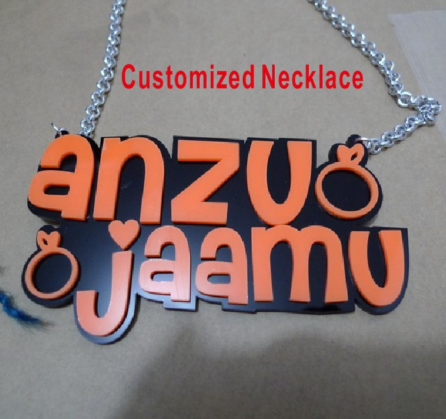 Hip Hop Customized Letter Pendant Necklace  <br><br>Aliexpress