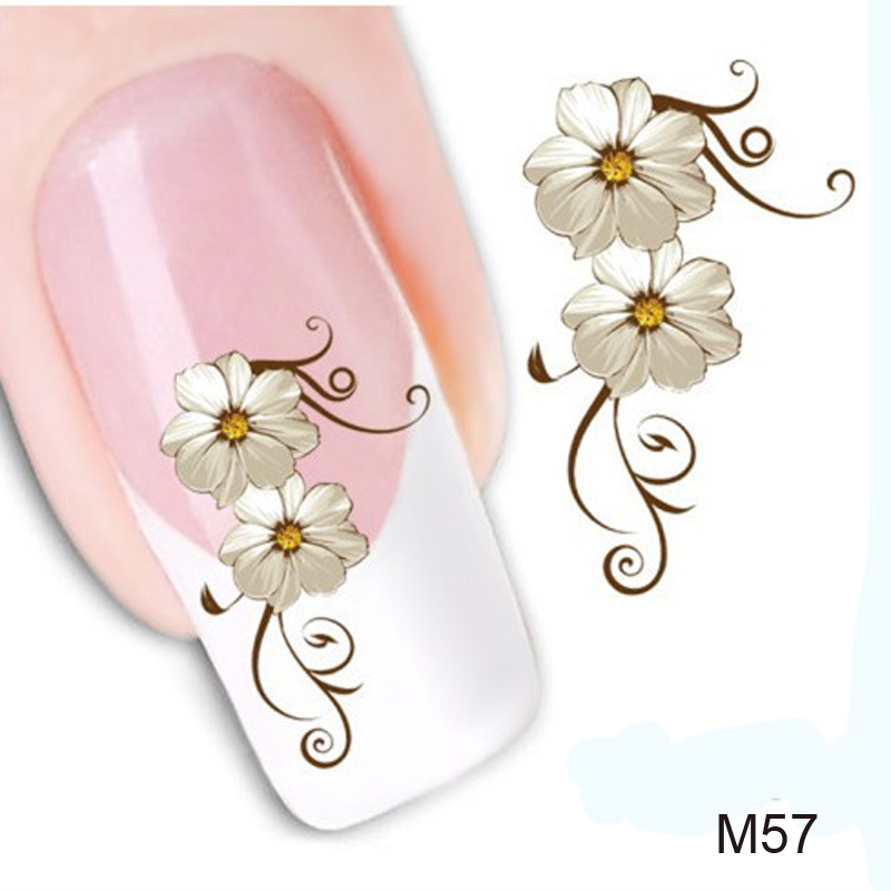 1pcs New Arrival Water Transfer Nail Art Stickers For Nails Accessoires Decal Beauty Flowers Nail Design Manicure Tool(China (Mainland))