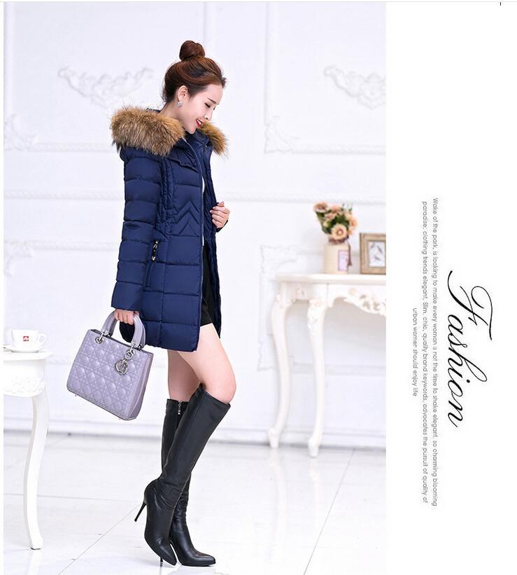 Latest Winter Fashion Women Down jacket Hooded Casual Thicken Super warm Medium long Coat Long sleeve Slim Big yards Coat NZ18