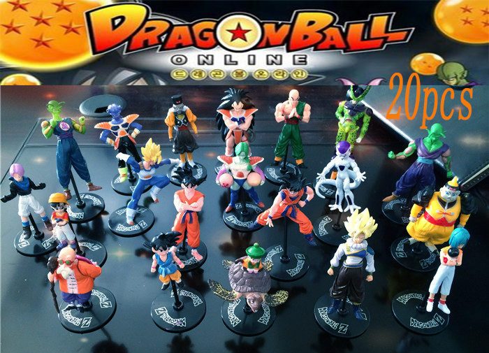 20ps Dragonball Z Dragon ball DBZ Goku Piccolo Action Figures Toys Children Kids Christmas Gift Classic Collection Set Toy Anime(China (Mainland))
