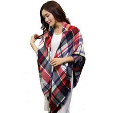 Sali 2015 142*136CM Scarf Wrap Shawl Plaid Cozy Checkered Women Blanket Oversized Tartan(China (Mainland))