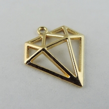 Buy 40pcs/pack Rose Gold Color Hollow Triangle Alloy Charms Necklace Pendant Women Charms jewelry findings Handmade Crafts 38930 for $2.35 in AliExpress store