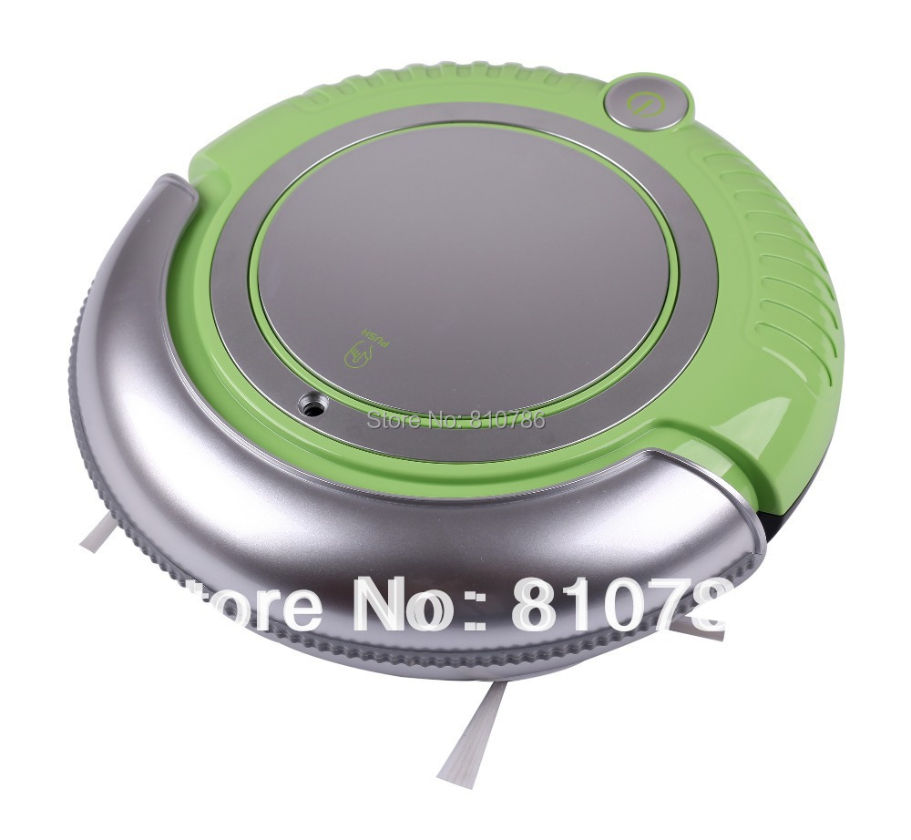 Mini Robot Vacuum Cleaner , Removable 2 Side-brushes, Adjustable Anti-cliff Sensors,Mopping,3 Working Modes(China (Mainland))