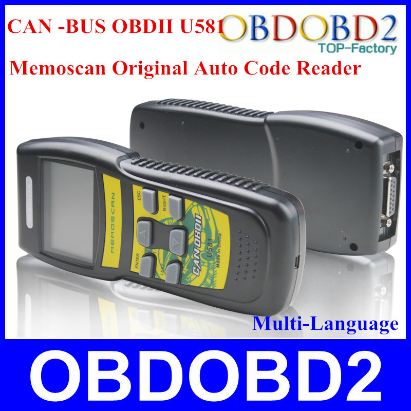Multi-Language Memoscan U581 Code Reader Trouble Code DTC Automotive Auto Diagnosis Supports EOBD Protocols Fault Code(China (Mainland))