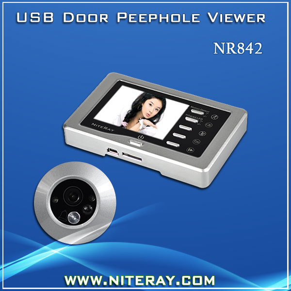 Motion Detection Peephole Digital Door Viewer Door Eye Viewer