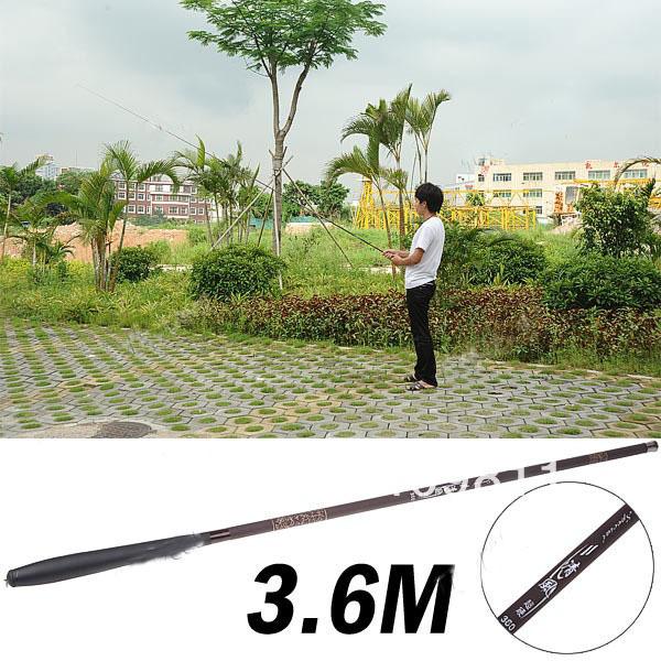 Portable 3.6M 7-Folding Competitive Fishing Rod Fish Pole Fishing Tool with Carry Bag - BlackLHU0096(China (Mainland))