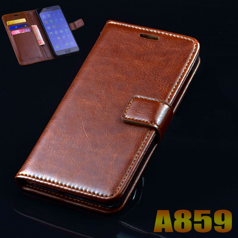 Lenovo A859 case cover luxury leather flip Phone Bags for Lenovo A859 A 859 ultra thin Business wallet Phone Bags Case cover(China (Mainland))
