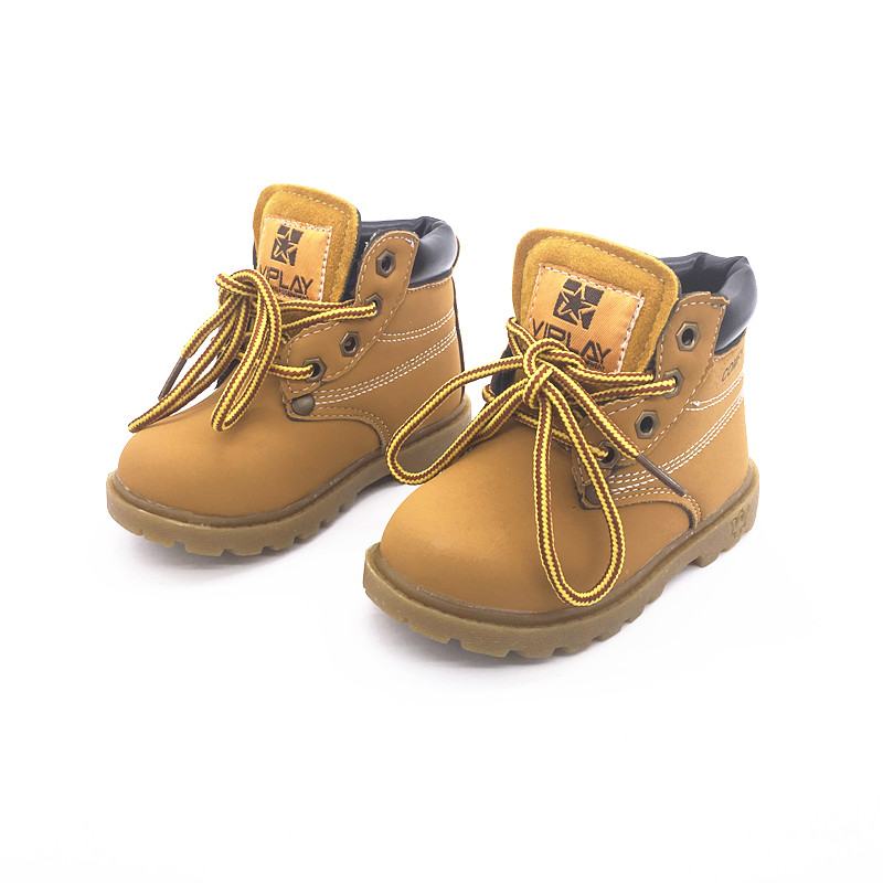 2017 new autumn winter Fashion Child Leather soft Boots For Girls Boys Warm Martin Boots Shoes Casual Child Baby Toddler Shoes