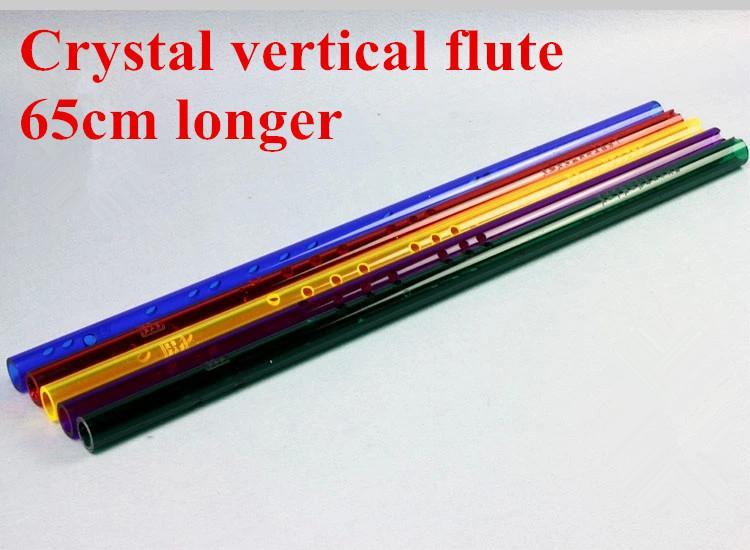 Фотография Free shipping Chinese XIAO Crystal vertical  flute national musical instrument Professional playing vertical flute 65cm longer