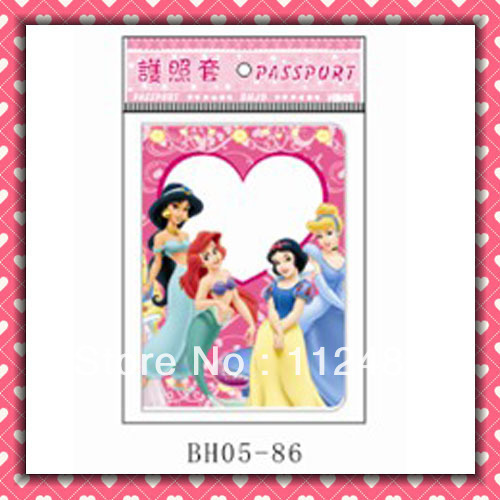 Free Shipping Four princess passport holders 100pcs/lot passport covers Card holders