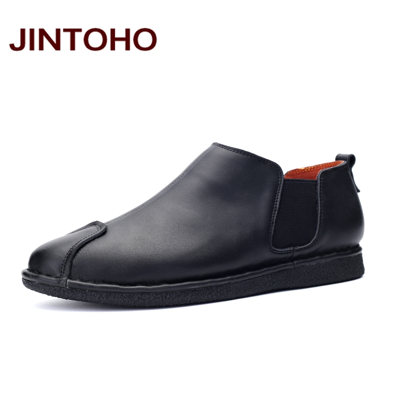 JINTOHO mens dress italian leather shoes slip on genuine leather formal shoes business men leather moccasins chaussures homme(China (Mainland))