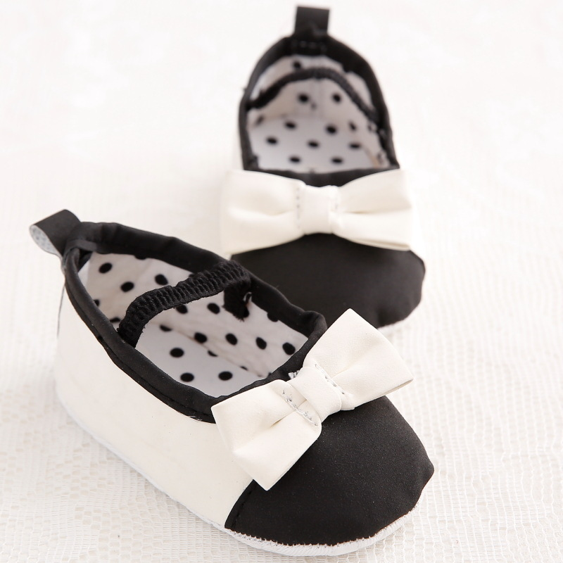 White Bowknot Classic Baby Girl Shoes Soft Non-Slip Toddler Kids First Walkers Newborn Baby Ballet Princess Shoes Supplier 0-18M(China (Mainland))