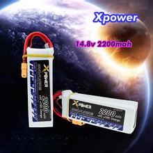 10pcs RC Lipo Batteria 14.8V 2200mah XT60 T Plug X power Lithium 45C 4S Batteries For RC Quadcopter Drone Spare Part Wholesale